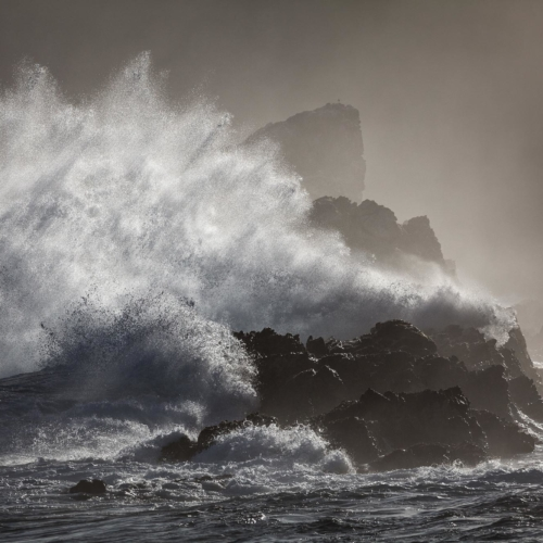 Storm wave, Tsitsikamma coast, South Africa