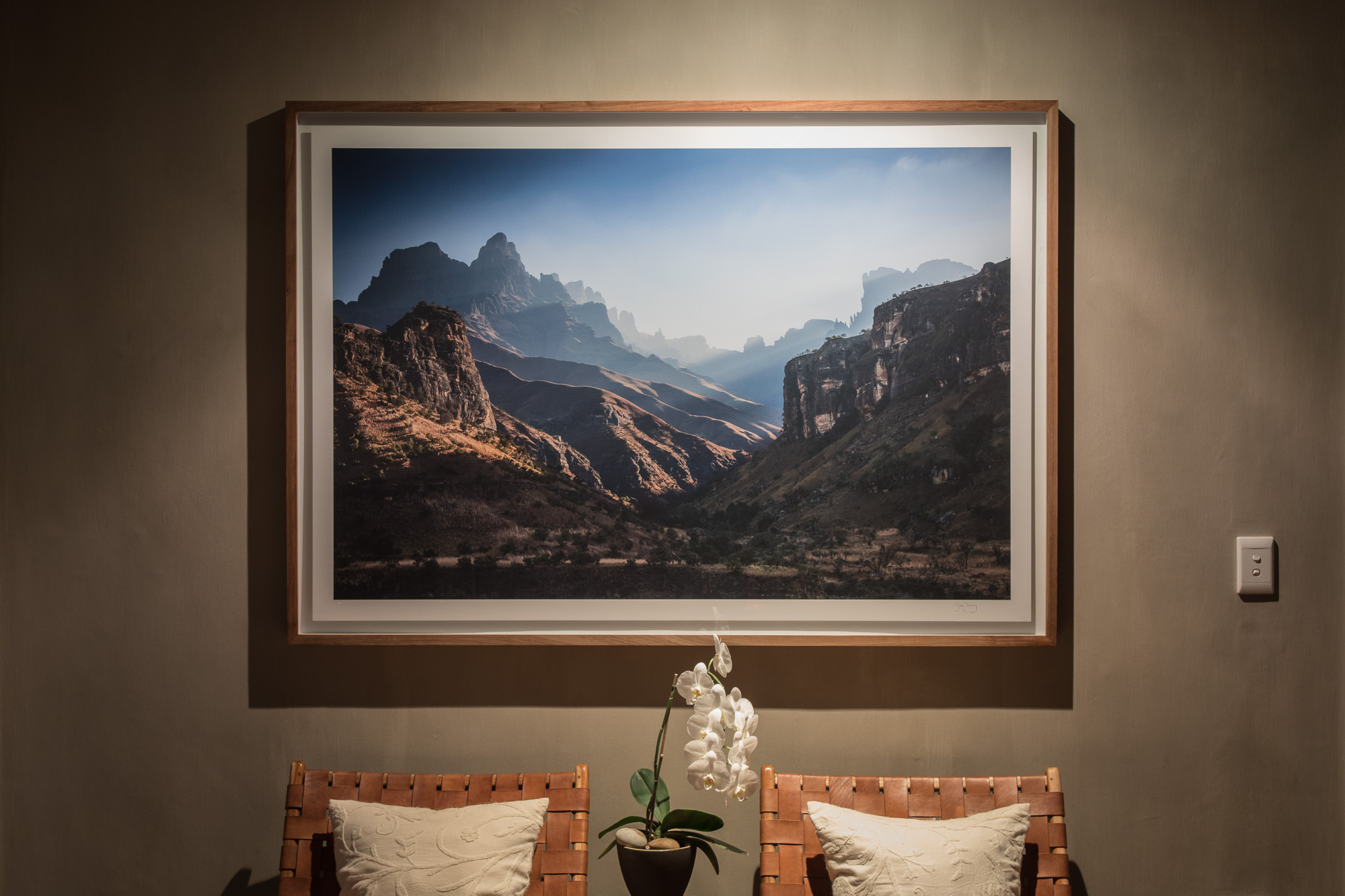 Northern Drakensberg - Epson Fine Art Paper Print with Wood Frame and Glass