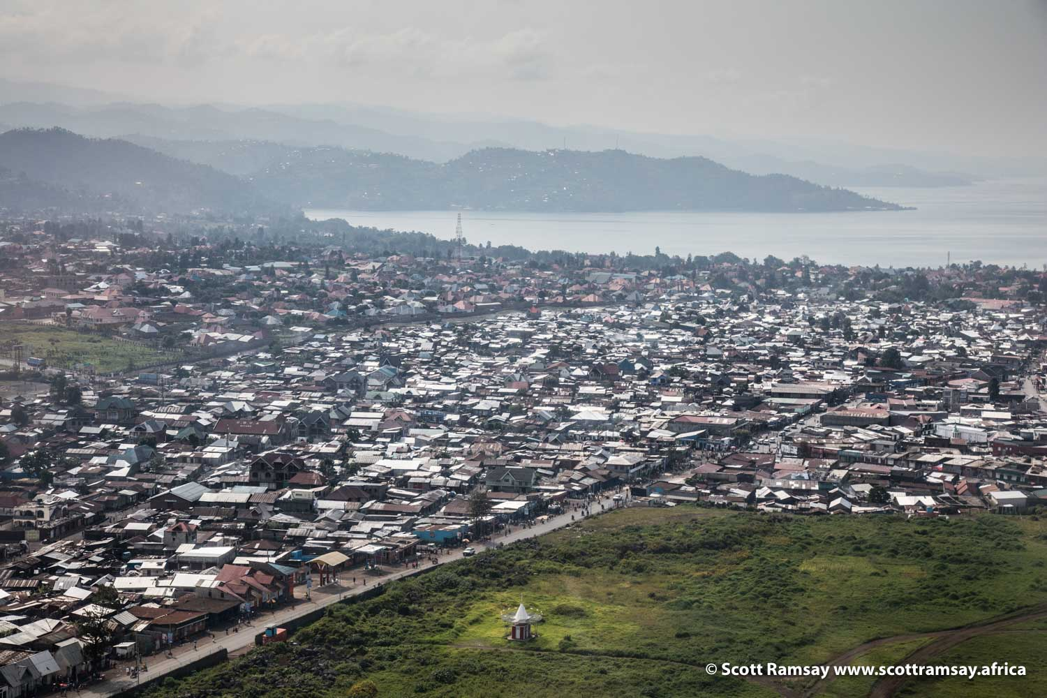 Where most trips to Virunga National Park begin. This is Goma, a city on the edge of Lake Kivu, on the border between Democratic Republic of Congo and Rwanda.