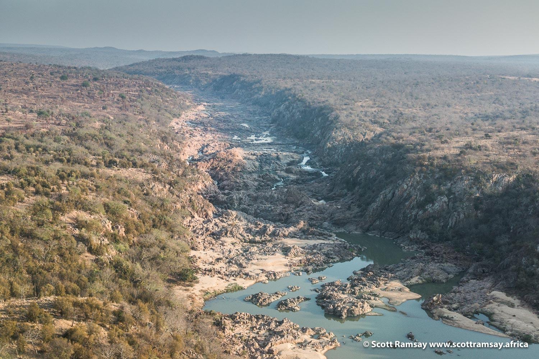 Save River Gorge Gonarezhou National Park in Zimbabwe