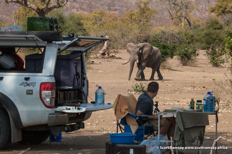 Camping in Gonarezhou National Park in Zimbabwe