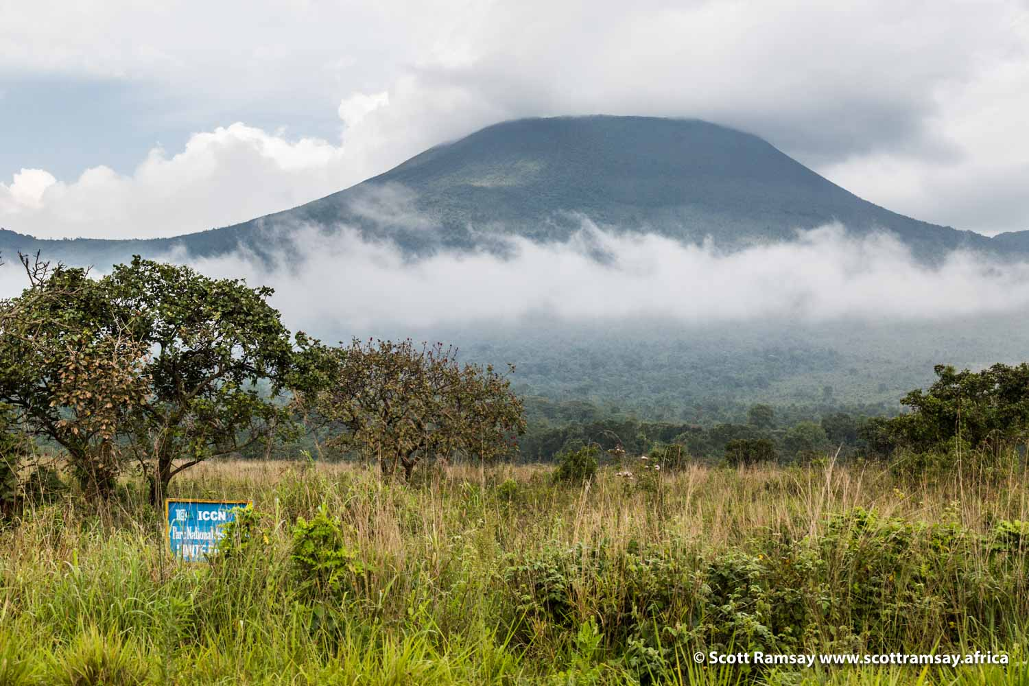 Mount Nyiragongo in Virunga