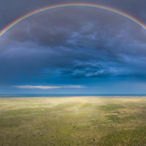 Rainbow, Central Kalahari, Botswana
