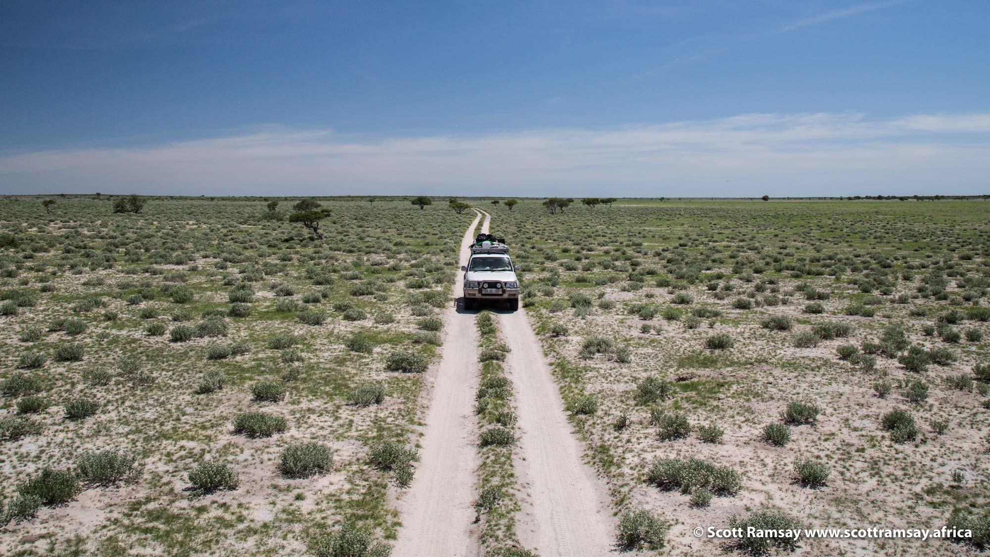 The jeep track to Piper's Pan...not much traffic here (except for dung beetles and butterflies, watch out for them!)