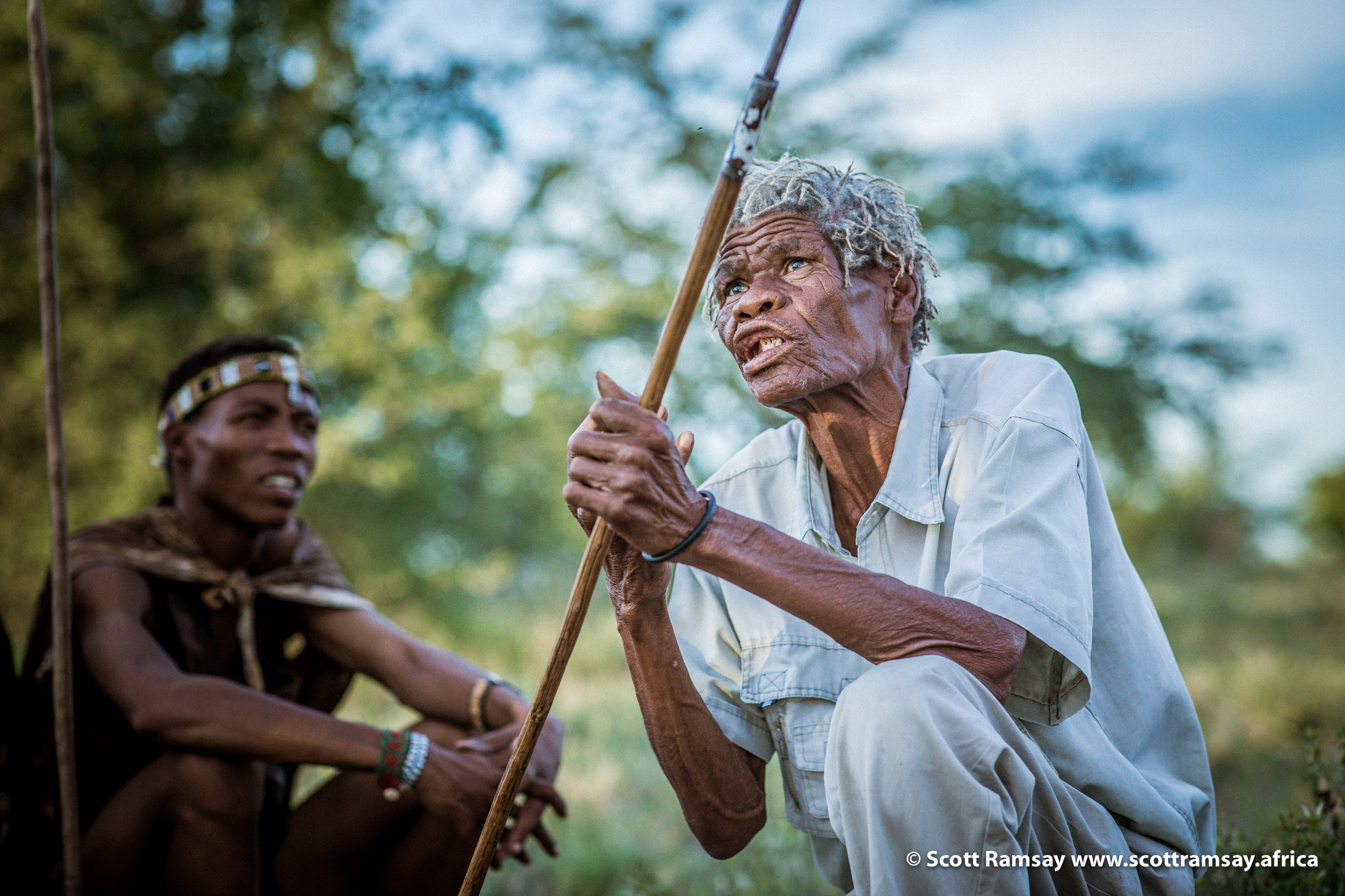 In a way, the Bushmen are a bridge back to the source of all humanity. I've always intellectually understood this fact, and appreciated it, but as I'm chatting to Cobra in person, there's a strangely powerful emotional impact.