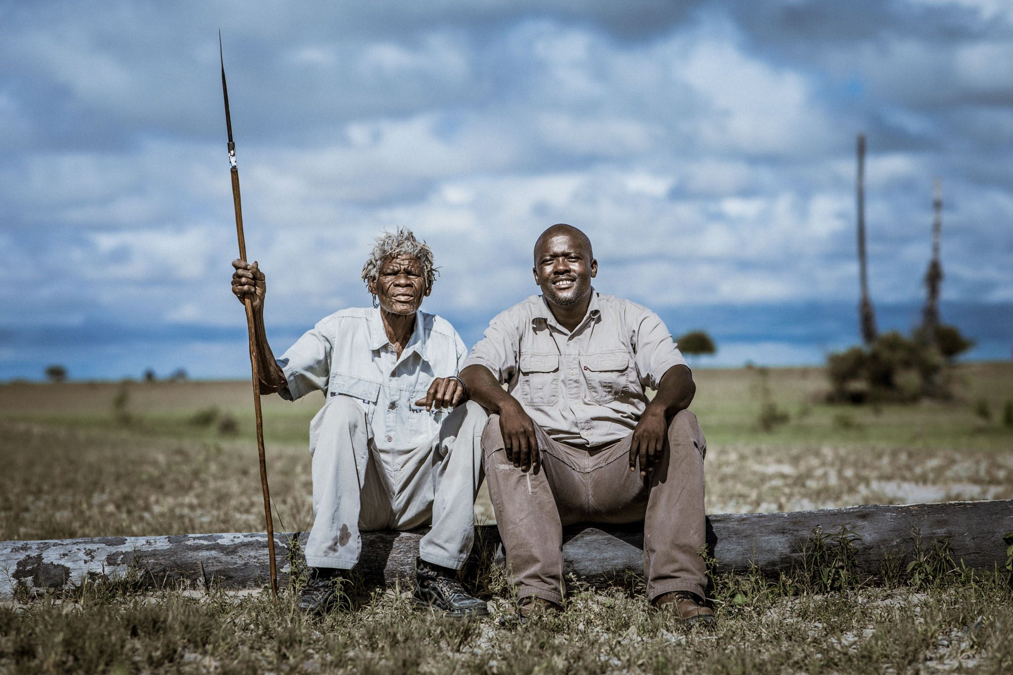 Cobra's home language is Shuakhwe, a distinct Bushman dialect from this part of Botswana. For our interview, he spoke Setswana, and guide Dennis Letshwiti translated for me.