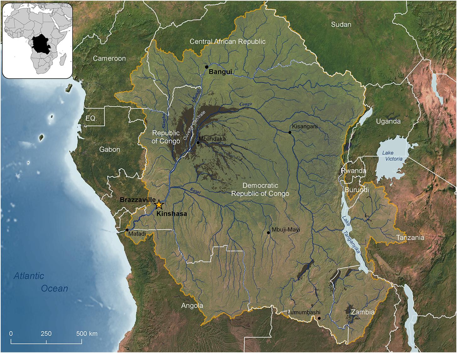 Map of Congo Basin