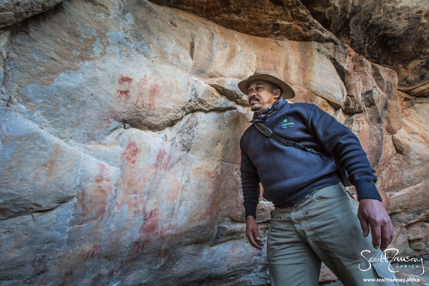 """Field ranger Jona Zimry is the man who looks after the northern Cederberg. His father John Zimry was a legend of the area, """"discovering"""" many of the rock art paintings for which the Cederberg is world famous."""