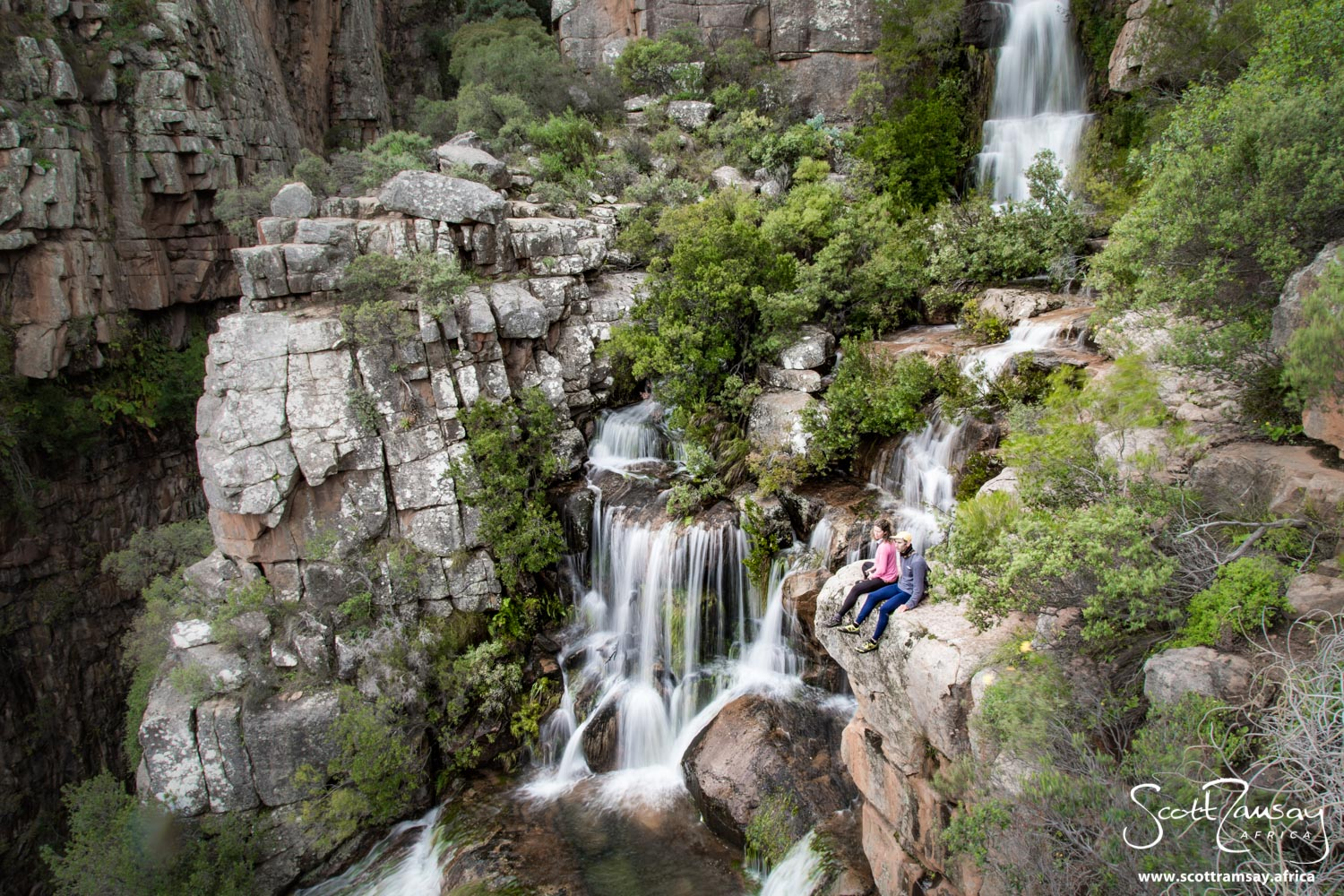 This waterfall and river is about an hour's walk up the mountains from the campsite and chalets at Algeria, the main entrance to the Cederberg wilderness.