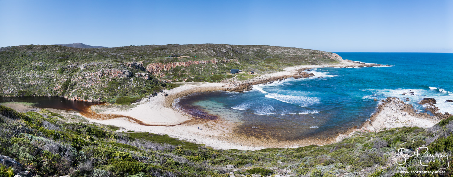 The paradise of Noetsie, the coastal cove where hikers spend the third night of the Whale Trail.