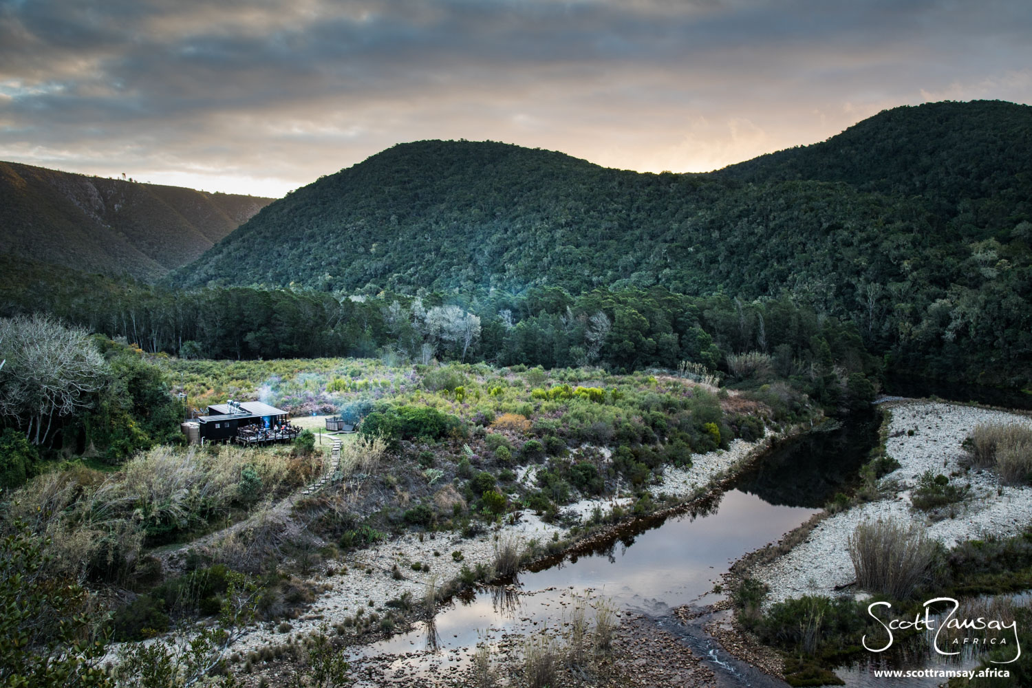 Whisky Creek Cabin, at the top of the Keurbooms River Gorge.