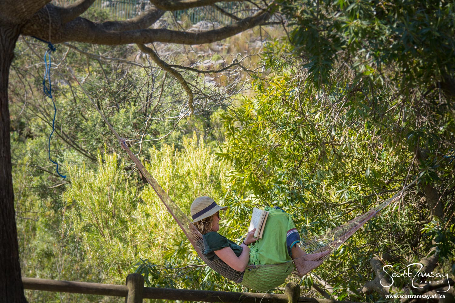 After a day of hard hiking, Jax Davis catches some air time in her hammock at Tweede Tol campsite.