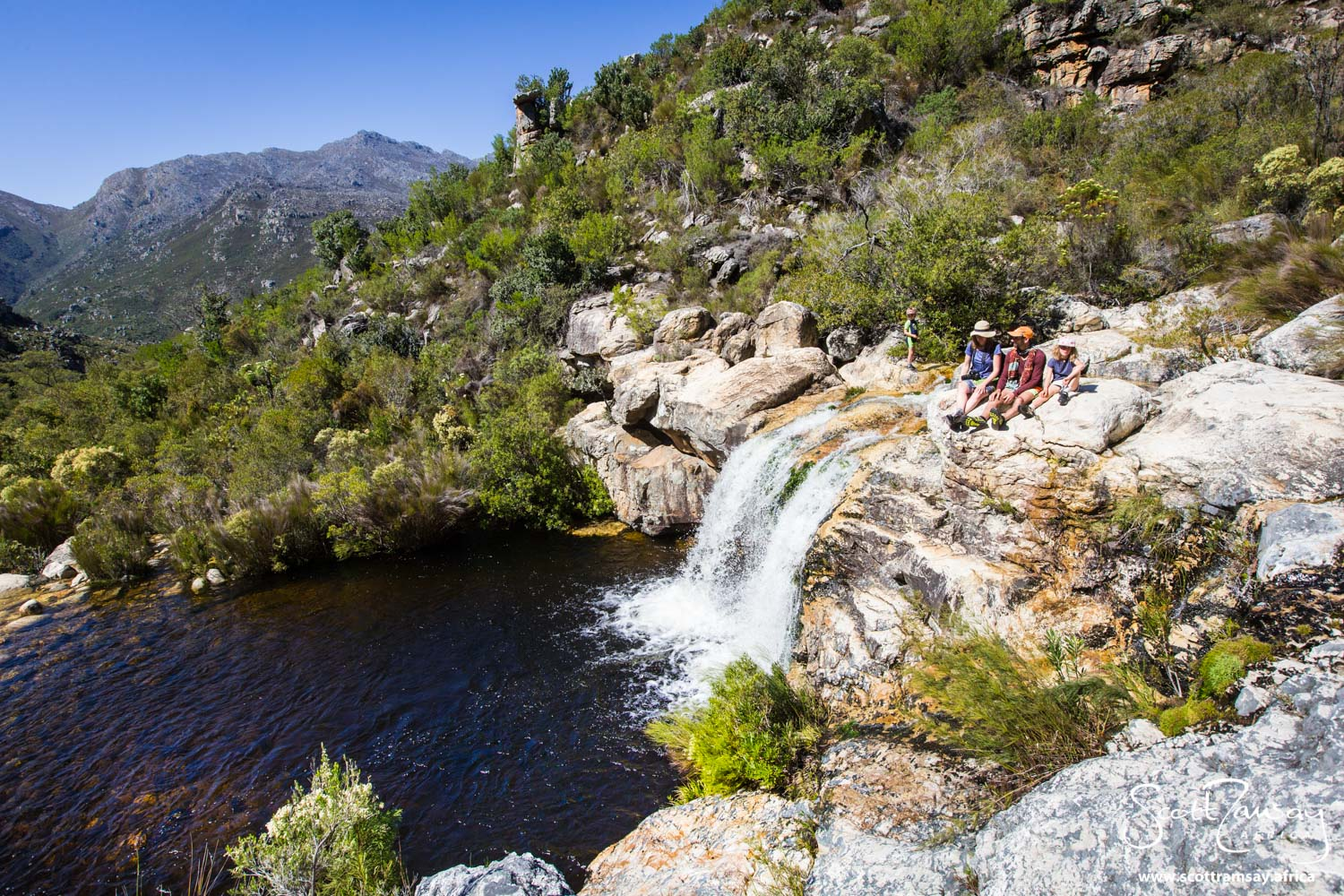 A few kilometres up from Tweede Tol campsite are several spectacular rock pools and waterfalls, easily accessed via a hiking path.