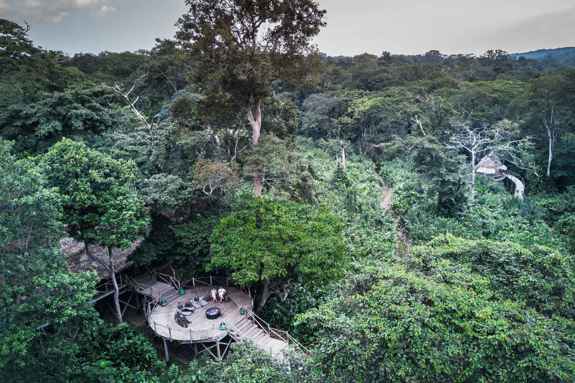 Ngaga Camp in Odzala-Kokoua National Park, an excellent base from which to see lowland gorillas.