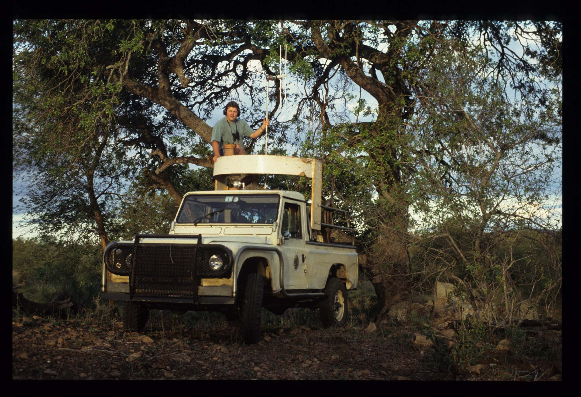 Paul Funston in his early days, tracking lions in Kruger, South Africa